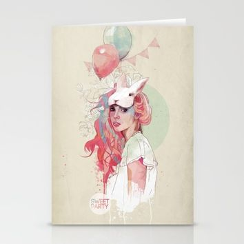 Sweet Party Stationery Cards by Ariana Perez