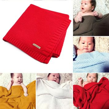High Quality Candy Color Infant Woolen Blanket