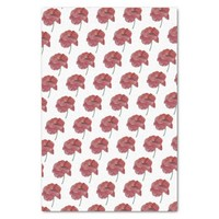 Deep Red Watercolor Poppy Tissue Gift Paper
