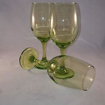 Tall Lime Green Goblets