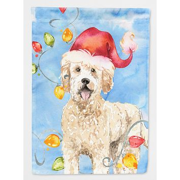Christmas Lights Goldendoodle Flag Canvas House Size CK2478CHF
