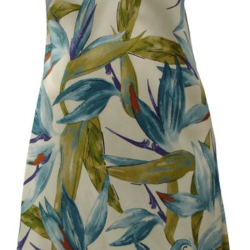 Watercolor Birds of Paradise A - Line Dress with Sleeves
