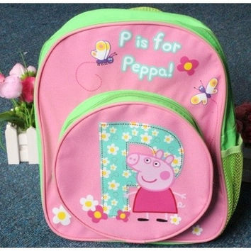 Pepe pig  plush doll schoolbags backpack Peppa Pig Pepe pig Backpack [8081831047]