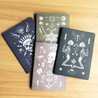 4pcs/lot Vintage Pirate skull series Kraft paper notebook Office note book & School Supplies