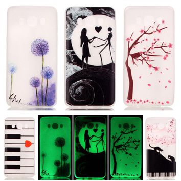 DEEVOLPO Fluorescent Noctilucent Bags Cases For Samsung Galaxy J7(2016) J710  TPU Gel Soft Mobile Phone Cover Shell DP54