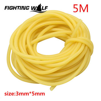 5M Sporing Natural Latex Tube Slingshot 3mmX5mm Yellow Color Replacement Band for Hunting Sling Shot Catapults Sling Rubber
