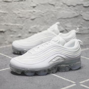 Nike Air Max 97 VaporMax Q100-3200 White Sport Running Shoes - Best Online Sale