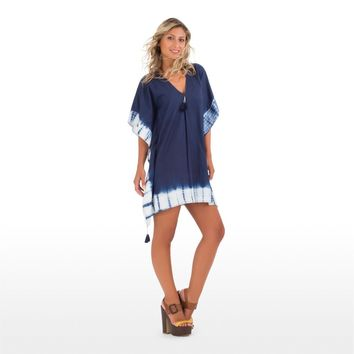 Blue Mini Cotton Kaftan Top