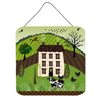 Folk Art Country House Wall or Door Hanging Prints VHA3024DS66