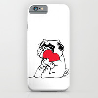 Pug Heart iPhone & iPod Case by Huebucket
