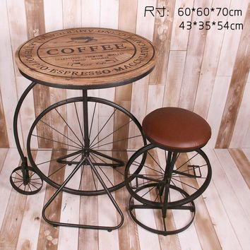 American Village Cafe Retro personality to do the old wrought iron tables and chairs suite furniture combination tea shop creati