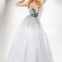 US $177.69 Free Shipping Brilliant A-Line Sweetheart Floor-Length Sequins Prom Dresses