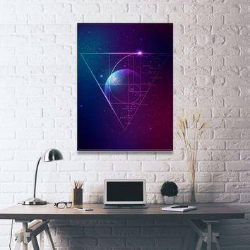 Golden Ratio Galaxy Canvas Set