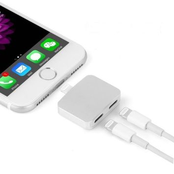 Tiehnom 2 in 1 Lightning Adapter for iPhone 7, Headphone Audio & Charge Adapter, Dual Lightning Splitter for iPhone 7 / 7 Plus - Walmart.com