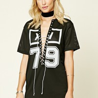 Lace-Up 79 Graphic Jersey Shirt