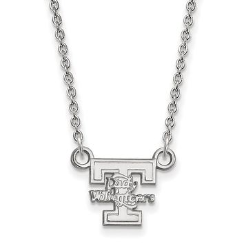 NCAA Sterling Silver U of Tennessee Small 'T' Lady Vols Necklace