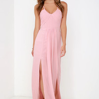 Bariano Test of Time Blush Pink Maxi Dress