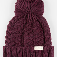 Neff Kaycee Beanie Burgundy One Size For Women 26396432001