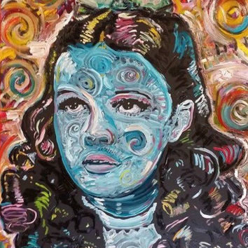 Dorothy Movie Art Original Oil Painting 16x20 Pop Art Painting Wizard of Oz Judy Garland Canvas Wall Art Gifts for Both