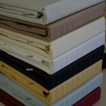 Queen Pin Stripe 600 Thread count 100% Combed cotton Sheet sets