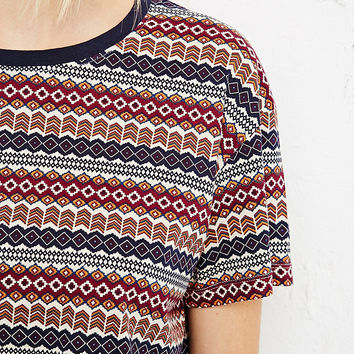 BDG Jacquard Crop Top - Urban Outfitters