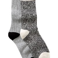 Free Press | Cozy Super Soft Crew Socks - Pack of 2 | Nordstrom Rack