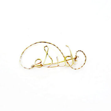Vintage SID Brooch, Gold Wire Name Pin
