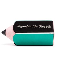Suede and Leather Pencil Clutch - OLYMPIA LE-TAN