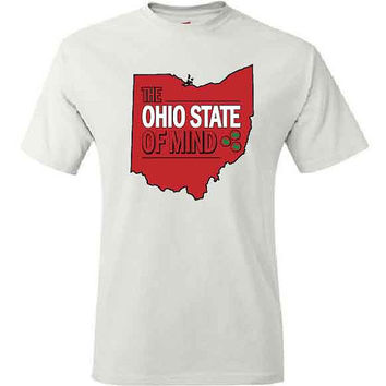 Funny T Shirt for Ohio State Fan. Ohio State of Mind. Ohio State Football Shirt. Funny Football Shirt. Buckeyes. Pink Pig Printing.