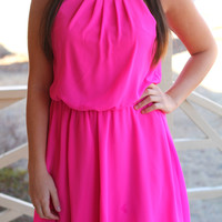 Spring It All To Me Dress: Hot Pink - Off the Racks Boutique