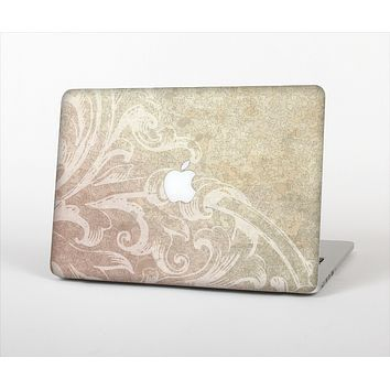 The Tan Vintage Subtle Laced Texture Skin Set for the Apple MacBook Pro 15""