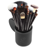 22 Piece Brush Set with Cup in Black