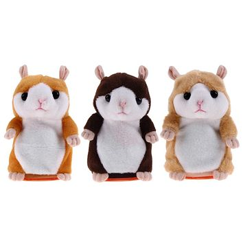 Lovely Talking Hamster Toy Cute Speak Talking Sound Record Hamster Kids Early Educational Toy