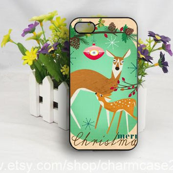 Deer Mother and her baby iPhone 4s case,iphone 6 case,samsung galaxy s3/s4/s5 case,iphone 4/4s case,iphone 5/5s/5c case,Personalized