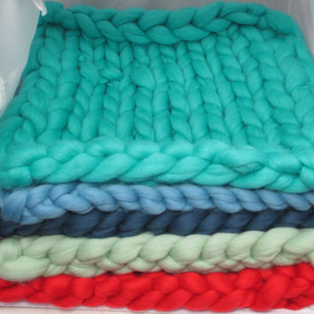 Knit Merino Wool Mats for Baby Blankets, Photo Props, Available in 30+ Colors