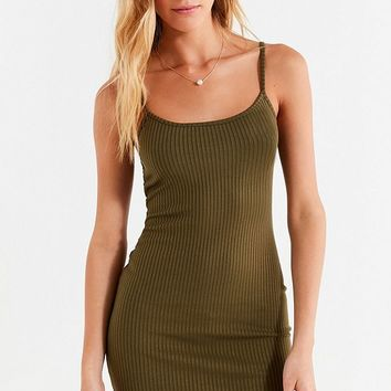UO Mia Ribbed Knit Bodycon Mini Dress   Urban Outfitters