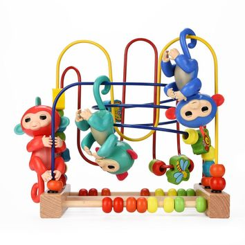 Funny Gym Playset Interactive Baby Monkey Climbing Toy For Fingerlings