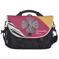 Fashionable Personalized Monogram. Your Text /Name Laptop Bag from Zazzle.com