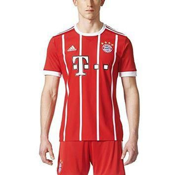 adidas Men's Bayern Munich Home Soccer Jersey 2017/2018 (Red)