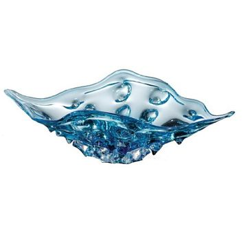Blue Ocean Water Shell Shape Decorative Bowl