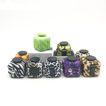 Original Camouflage Fidget Cube EDC Spinner Toy with Case Anti Stress Desk AntiStress