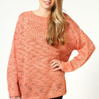 Lisa Oversize Chunky Jumper with Gold Stitch