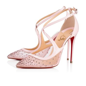 Christian Louboutin Cl Twistissima Strass Version Vintage Rose Strass 18s Bridal 1180586p229 - Best Online Sale