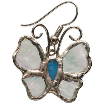 Stained Glass Butterfly Earrings