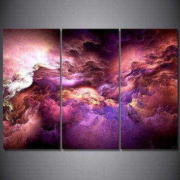 canvas art abstract psychedelic nebula space cloud print wall art on canvas - OPTIONS
