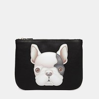 Love Moschino Dog Face Clutch Bag at asos.com