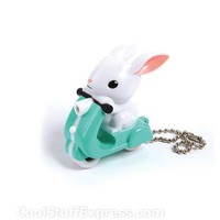Scooter Bunny LED Key Chain