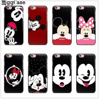 lovely Mickey Minnie mouse Phone Back Case Cover Soft TPU Protective Cover For iPhone X 7 6 6S Plus 5 5S SE 8 8 Plus Case Capa