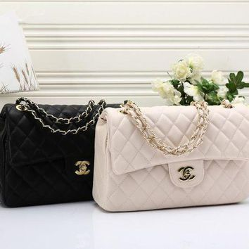 VLXZGW7 Chanel' Classic Temperament Simple Fashion Quilted Metal Chain Single Shoulder Messenger Bag Women Large Bag
