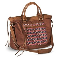Women's Crossbody handbag with Diamond Print Design - Brown